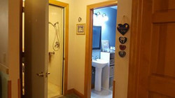 Shower and toilet room are seperate