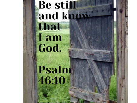 Until God opens another door, Praise Him in the Hallway