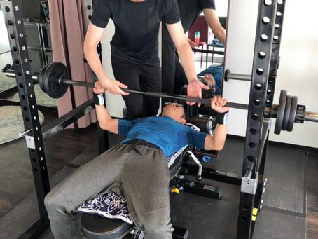 月に1度のトレーニングでも効果を実感できます(40代男性)