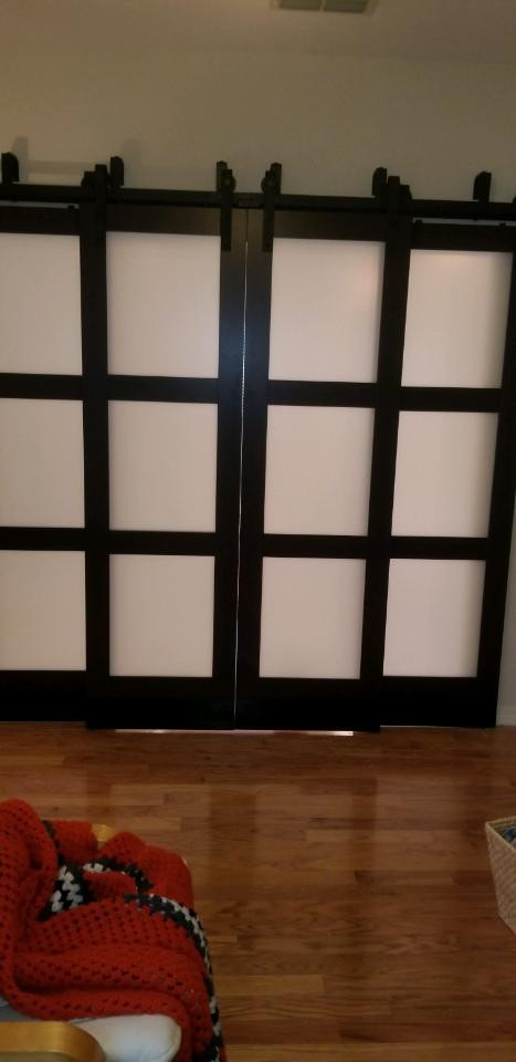 Installed barn doors looked nice