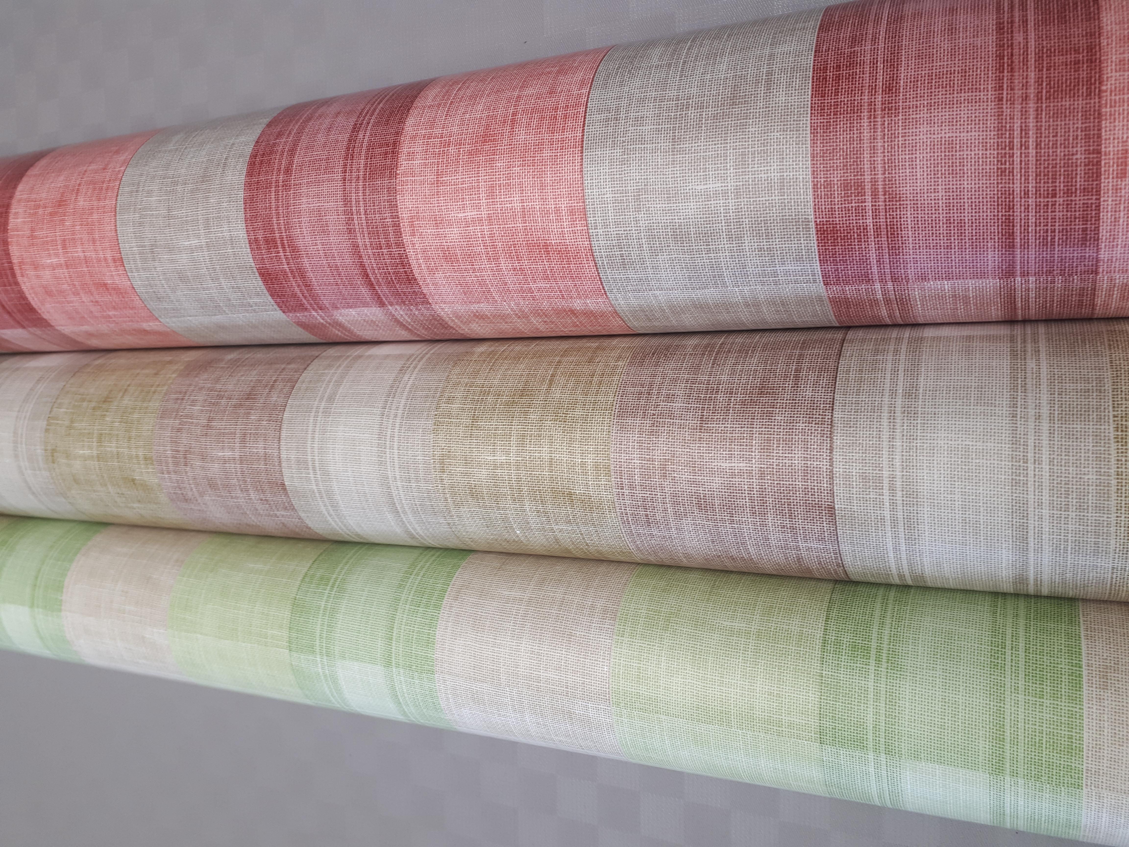 Garbo grün, braun, rot 140 cm breit