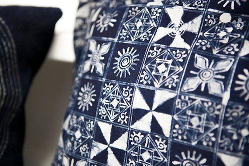 Handmade Hemp Batik Pillow Case