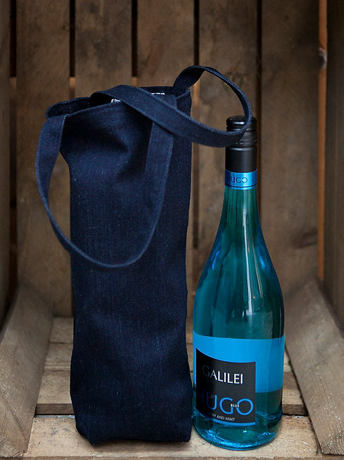 Upcycled Denim Wine Bag
