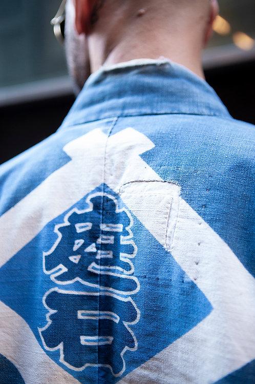 Antique Japanese Indigo Hanten