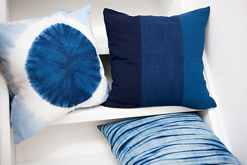Natural Indigo Shibori Pillow Case