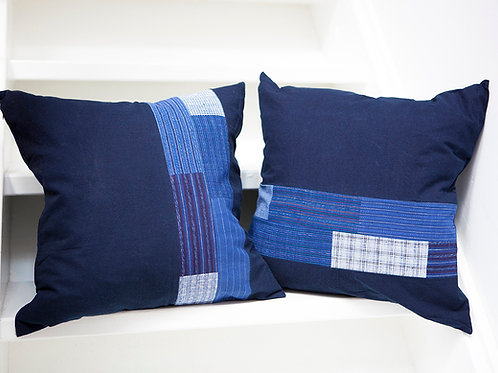 Japanese Boro Indigo Pillow Case