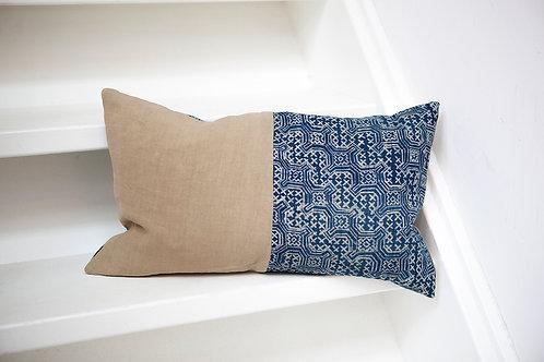 Hemp/Linen Batik Pillow Case