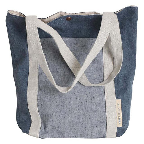 Upcycled Denim Shopper