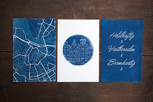 Amsterdam Blueprint Postcard Set