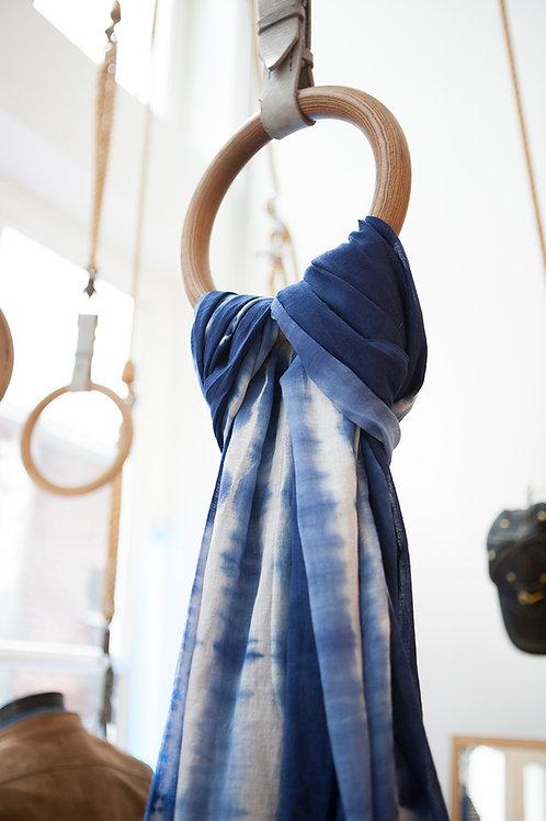 Organic cotton shibori scarf