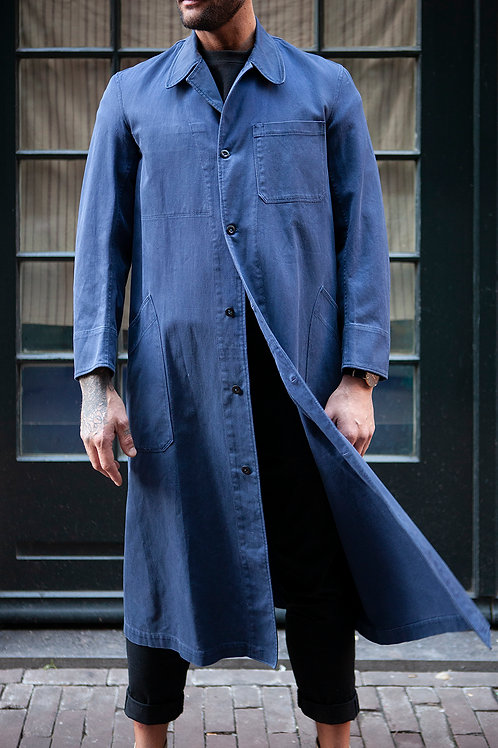Midcentury French Workwear Duster Coat