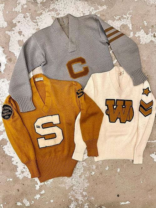 Mustard Letter Sweaters