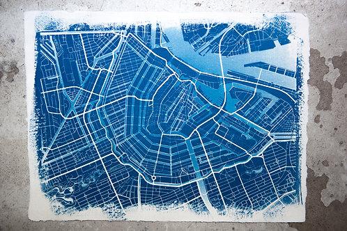 Amsterdam Cyanotype on Khadi Paper