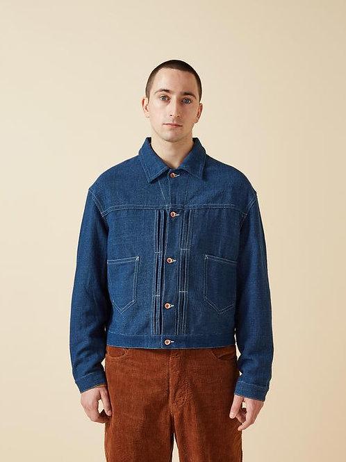 STORY mfg - Sundae Jacket 'Natural Indigo Handloom'