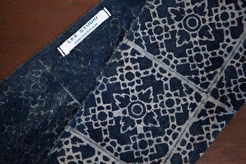 Natural Indigo & Batik Pocket Square