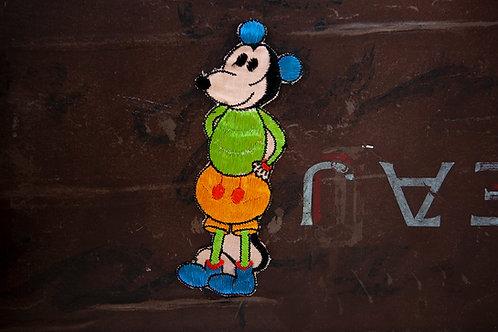 Early Silk Mickey Applique