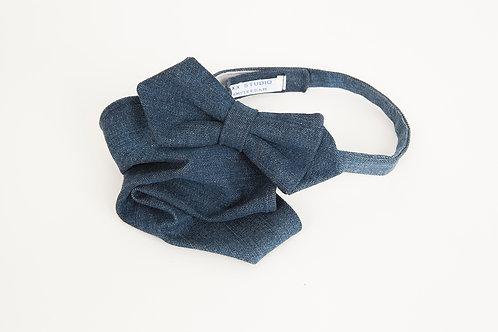 Raw Denim Bow Tie & Pocket Square