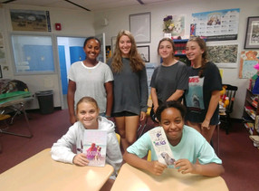 Writing workshop with students at Hilton Head Prep.