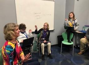 Sheri did a writing workshop at Polaris Middle School in Ridgeland, S.C.
