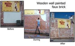 Trompe L'Oeil Brick painting process