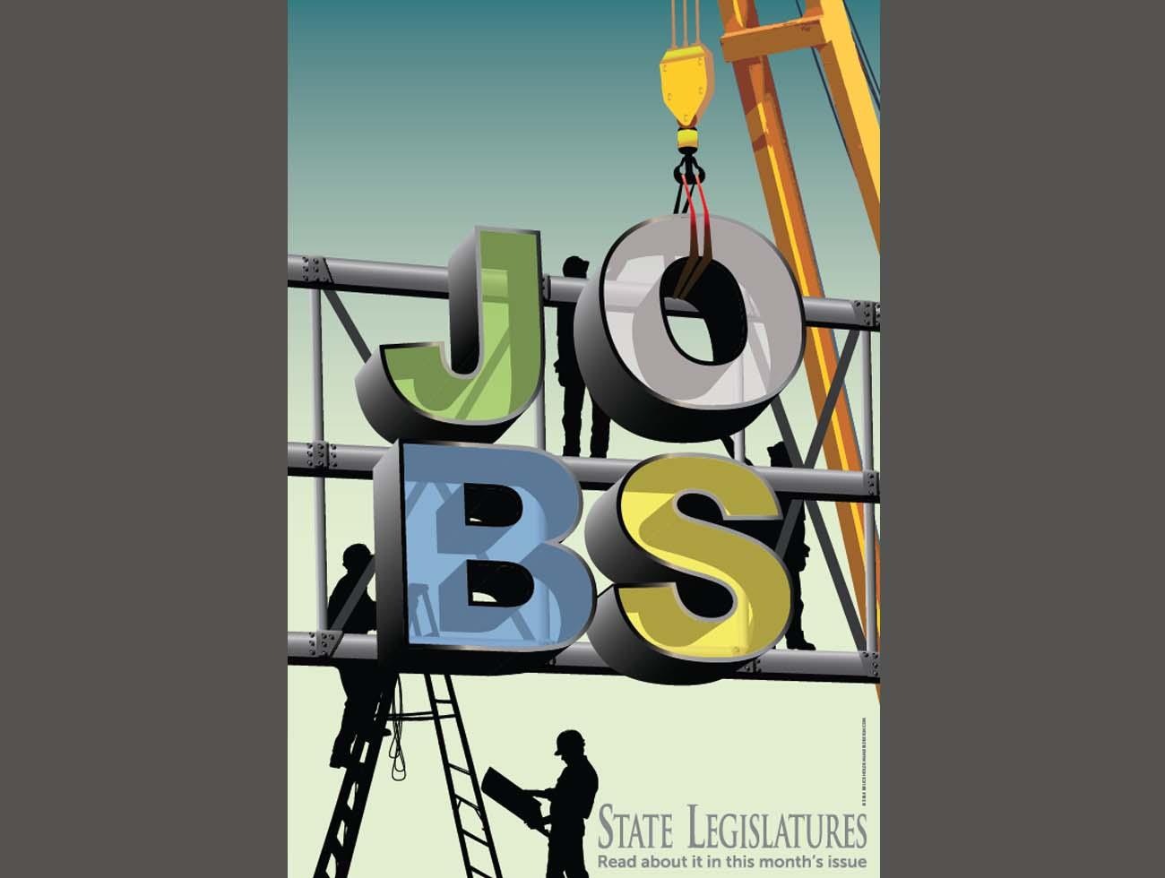 Poster on job growth