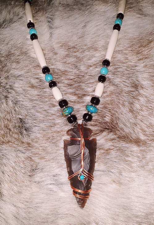 Native American Arrowhead Necklace