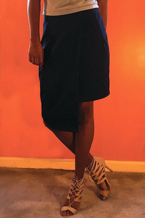 Freesia Asymmetrical Pencil Skirt