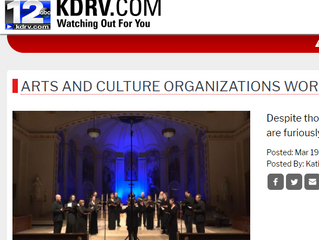 """""""ARTS AND CULTURE ORGANIZATIONS WORK TOGETHER TO BRING WORK TO HOMEBOUND AUDIENCES"""""""