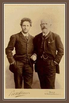 Tchaikovsky with cellist Anatoliy Brandukov