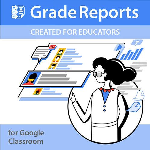 Grade Reports Domain License - 1 Year License