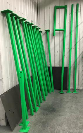 Peinture, Pièces de robot, Métal, Couleur: Vert