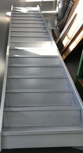 Peinture, Escalier d'usine, Métal, Couleur: Gris Anodisé