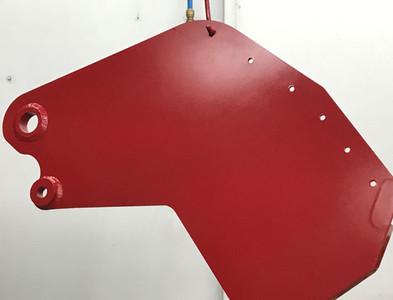 Peinture, Pièce de soufleuse, Métal, Couleur: Rouge Vif