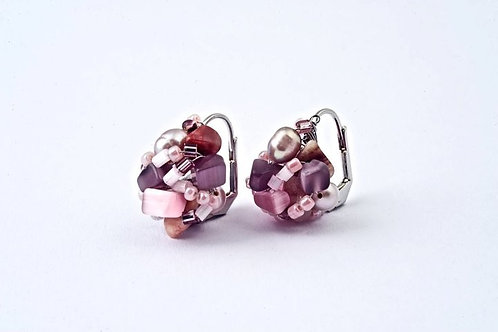 Earring Crochet Small Rosee