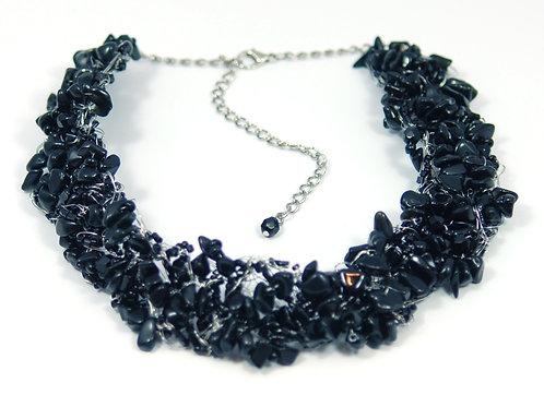 Necklace Crochet Large Onix
