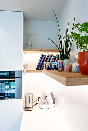 Detail ontwerp keuken.
