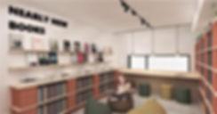 Inrichting boekenwinkel-MINT-projectNOLE