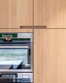 detail greep keukenkast