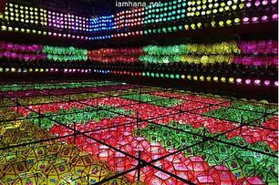 Huge number of lanterns can make a spectacle. 2019 Busan Samgwangsa Lotus Lantern Festival