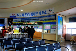 A trip to Korea in the winter, a day trip on Udo, Jeju Island (Udo tour bus)
