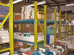 Industrial racks full of Automotive Manuals