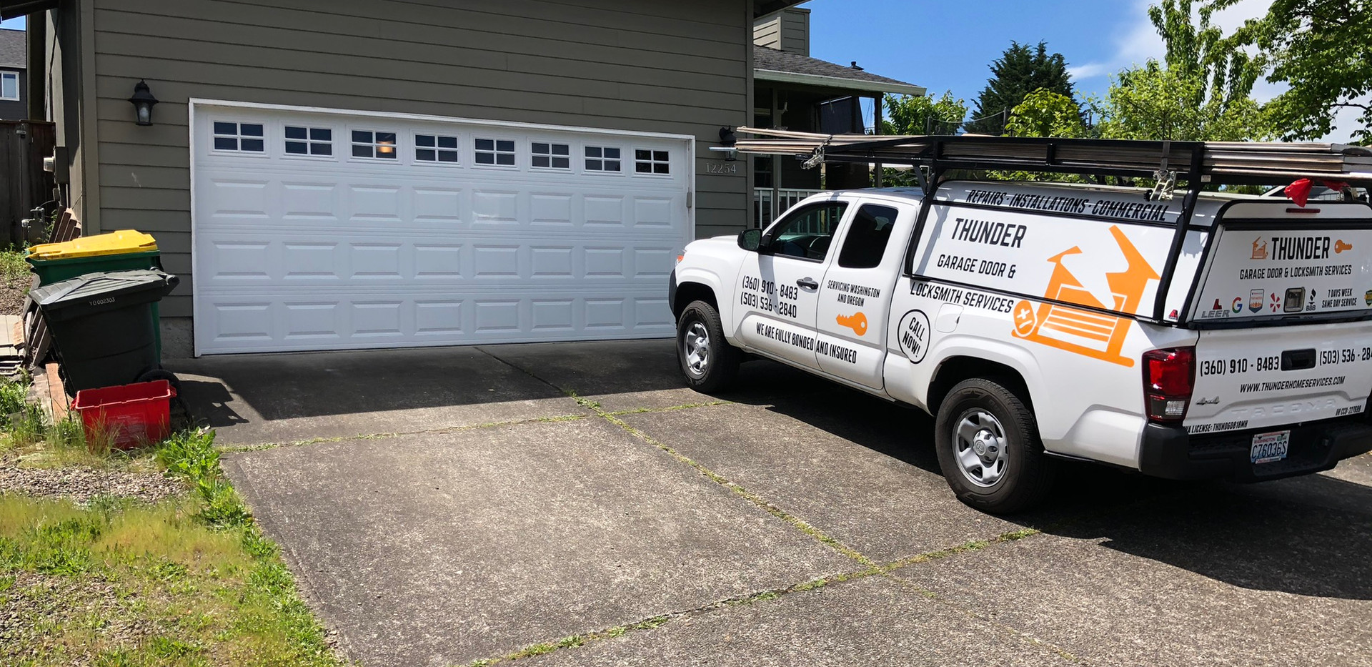 New garage door install in longview wa