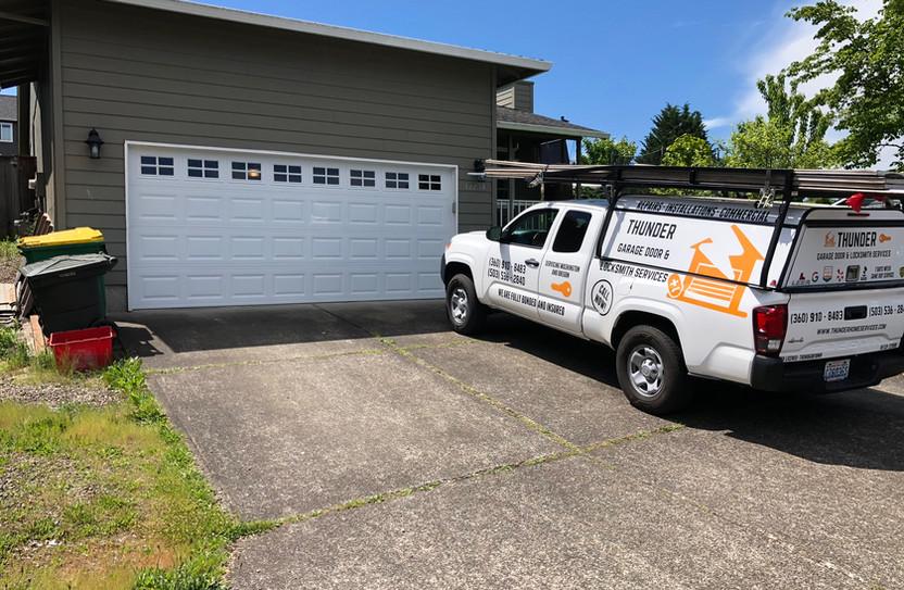 New garage door install in longview wa
