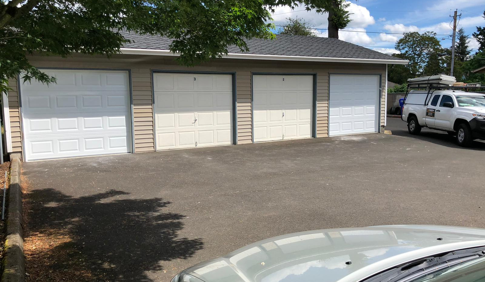 2 single car garage door installations