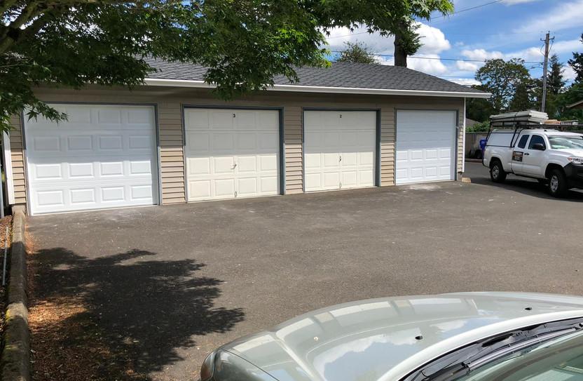 2 single car garage door installations