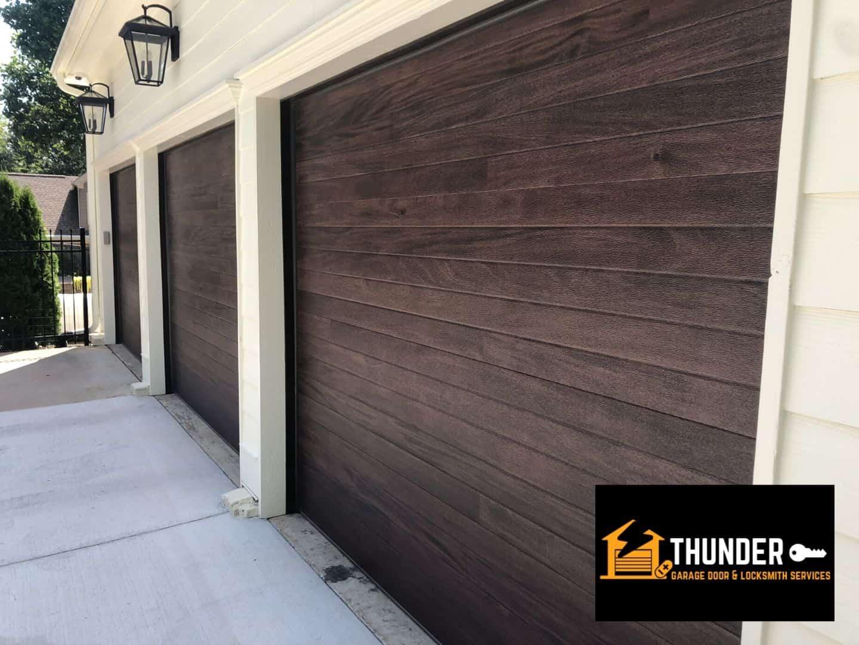 3 garage doors install