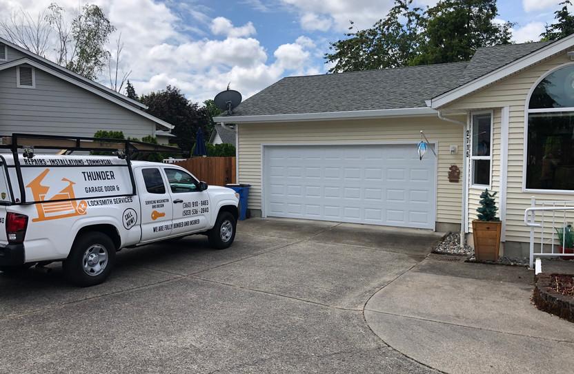New garage door install in la center WA