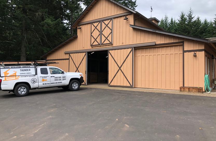 Barn doors unstallation