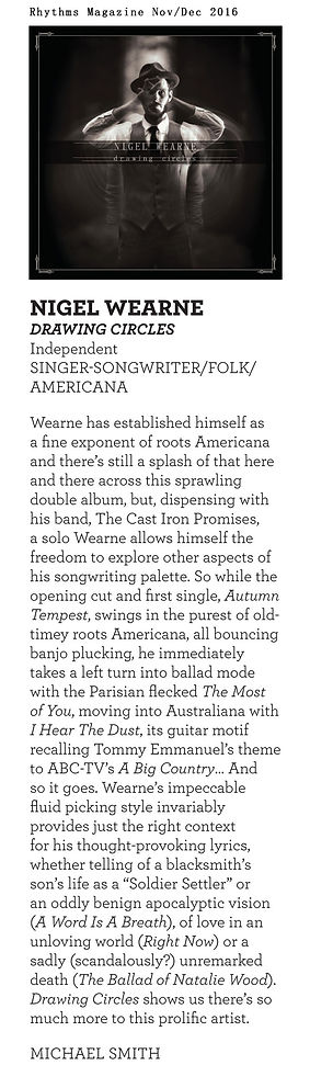 Nigel Wearne - Drawing Circles Album Rev