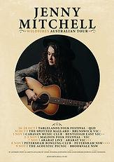 Jenny Mitchell - Wildfires Tour Poster W